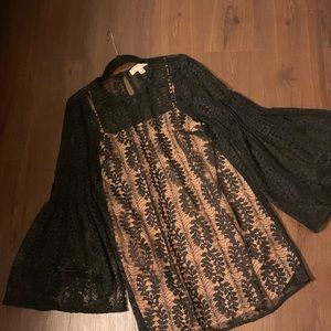 Michael Kors Black Lace Tunic